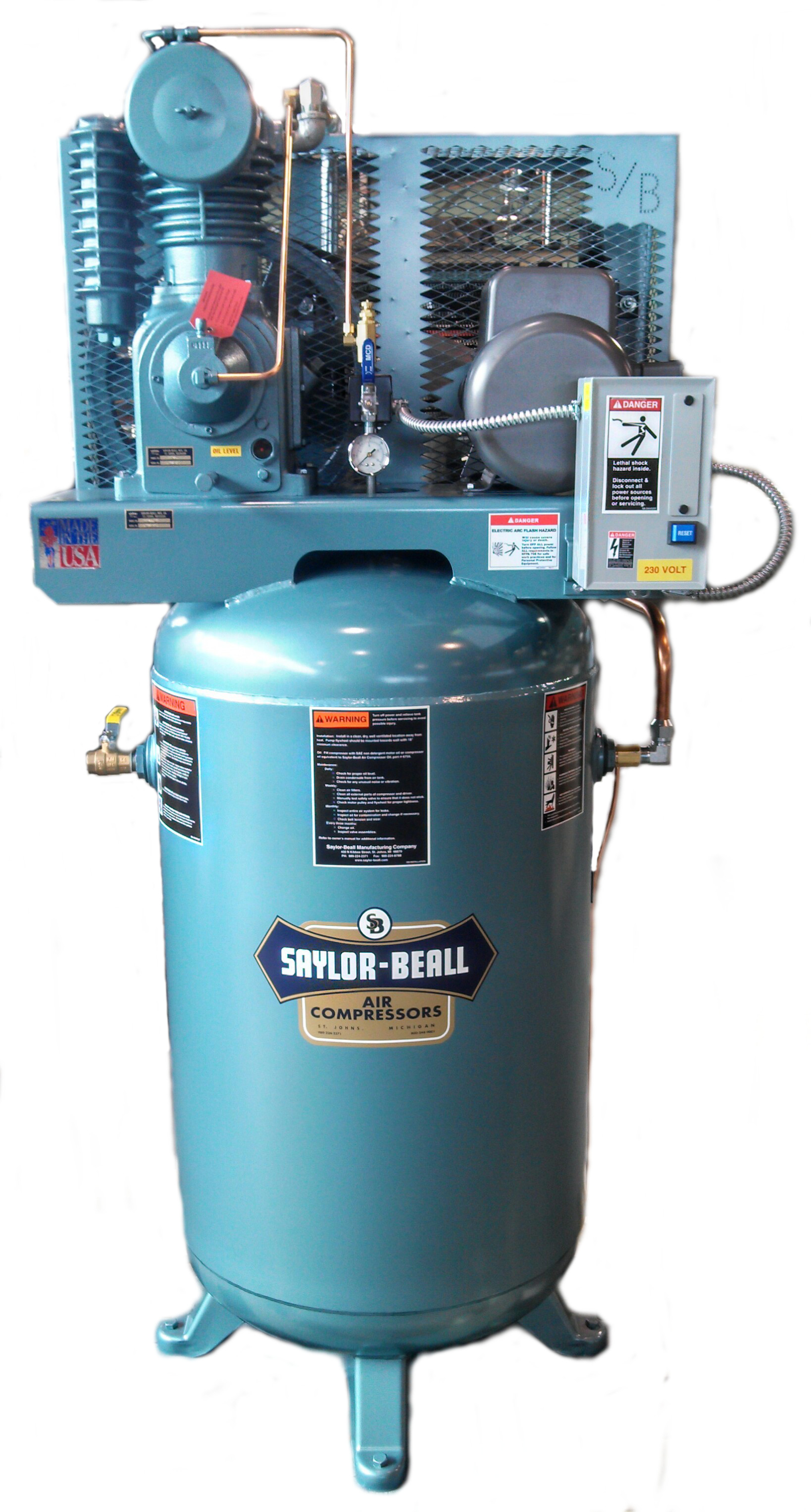 Saylor Beall 5 Hp. Performance Package Air Compressor